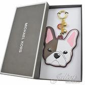 茱麗葉精品 全新精品  MICHAEL KORS 限量Bulldog法鬥狗頭鑰匙吊飾