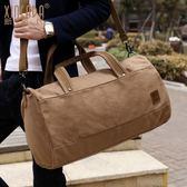 新潮代大容量旅行包 手提短途多功能健身運動女帆布旅行袋行李包男 BLNZ 免運