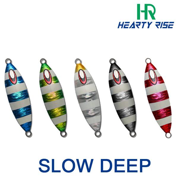 漁拓釣具 HR SLOW DEEP 藍/黑/綠/粉紅/白 #340g (深場慢鐵板)