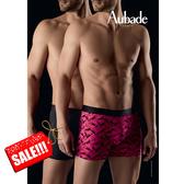 Aubade壞男人L-XL舒棉平口褲(雪茄2件組)