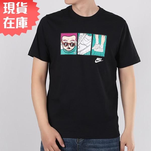【現貨】Nike Sportswear 男裝 休閒 純棉 AF1 漫畫 卡通 黑【運動世界】CT6528-010