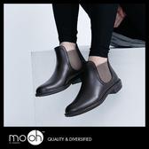 切爾西雨靴 歐美尖頭短筒雨鞋 棕色 mo.oh (歐美鞋款)