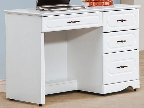 書桌 電腦桌 PK-586-3 愛黛兒烤白3.5尺書桌 (不含其它產品) 【大眾家居舘】