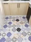 廚房地面瓷磚裝飾貼紙地板墻貼浴室防水防油墻紙自粘壁紙【慢客生活】