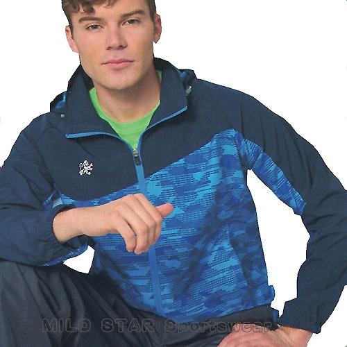 MILD STAR 男女平織網裡運動服套裝[全套]#JS180403+PS180505-水藍印花