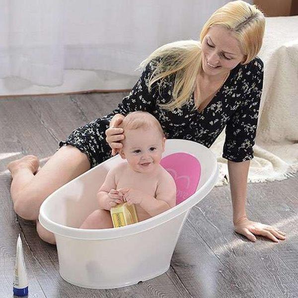 店長推薦嬰兒洗澡盆加厚新生兒浴盆可坐躺洗浴通用寶寶小澡盆兒童洗澡桶