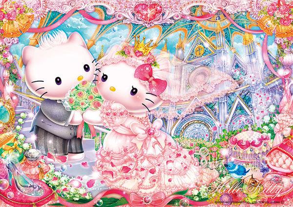 【拼圖總動員 PUZZLE STORY】皇室婚禮 日本進口拼圖/Beverly/Hello Kitty/108P