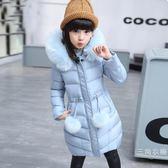 女童冬裝棉衣外套8女孩羽絨外套10加厚9中長款15兒童冬季羽絨外套12歲【雙12 交換禮物】