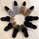 豆豆鞋 豆豆鞋女冬加絨毛毛鞋外穿厚底新款韓版平底網紅冬季社會棉鞋