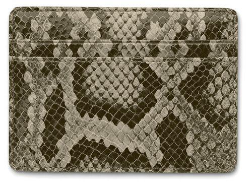Faber-castell 經典蛇紋皮信用卡夾 *188843