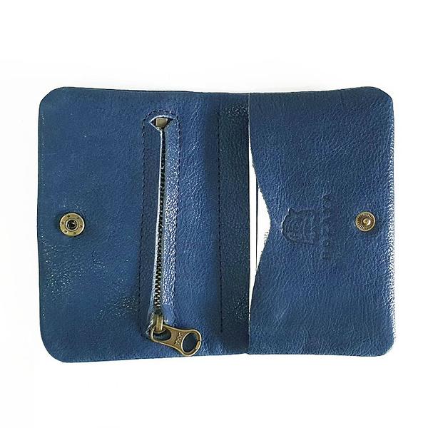 HOZAYA BLUE 守護神藍 簡約零錢包/名片夾/卡包