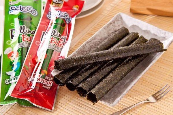喜樂口-香脆烤海苔卷-原味/辣味(3.5gx12包)【台安藥妝】