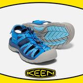 【KEEN 美國 女 護趾涼鞋/7《 寶藍/粉藍》】1018852/輕量/快乾/水陸兩用鞋/涼鞋/休閒涼鞋★滿額送