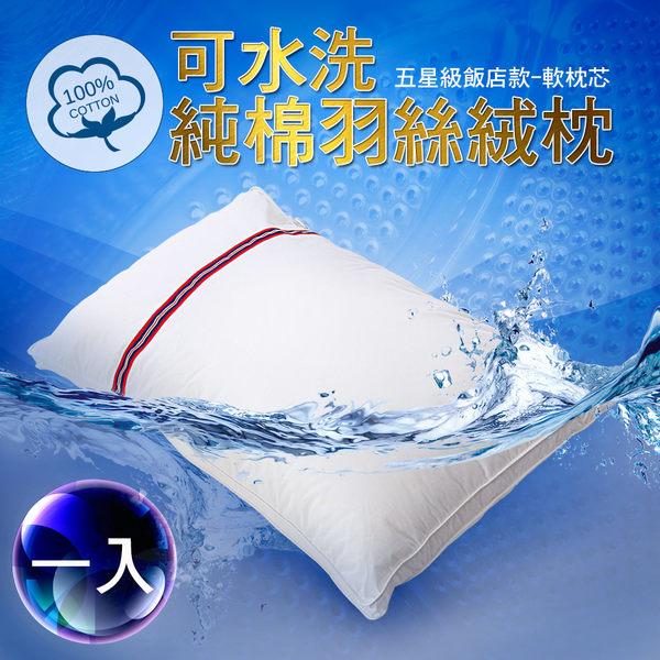 Artis - 可水洗 純棉羽絲絨枕 2入裝 中空壓縮包裝