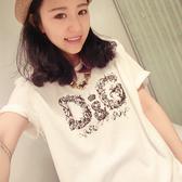 ☆ENTER☆短袖T恤 彩繪字母圓領白短袖T恤【GO4965】