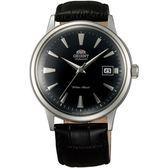 【台南 時代鐘錶 ORIENT】東方錶 DATEⅡ經典機械錶 FAC00004B 皮帶 黑/銀 40mm