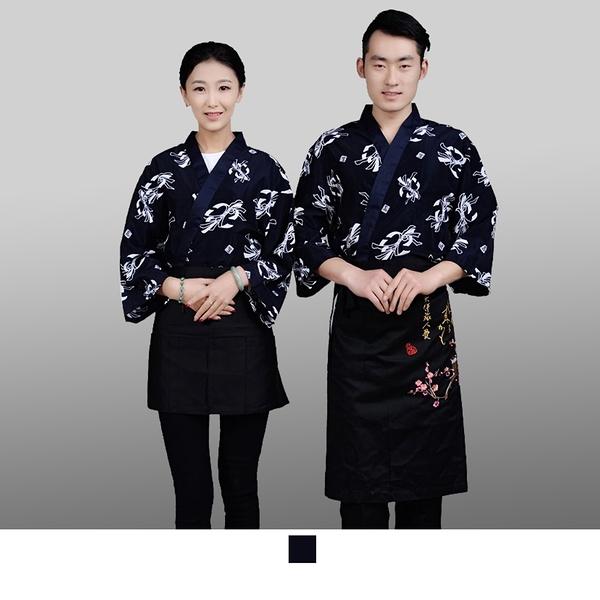晶輝專業團體制服*CH114*日式溫泉飯店女竹子印花日本料理廚師服餐廳服務員工作服壽司