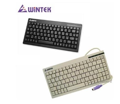 【超人生活百貨】WINTEK 小鍵盤 595 防水 PS2 薄膜式按鍵 外型輕巧 外露式指示燈 雷雕鍵帽