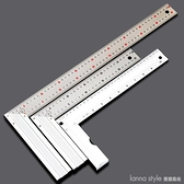 木工角尺 品質高于不銹鋼角尺90度角尺木工尺帶水平尺直角尺 新品全館85折 YTL