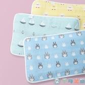 吸汗透氣新生嬰兒兒童五層紗布蓋巾枕巾純棉一對裝【千尋之旅】