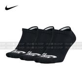 (特價) NIKE SB NO-SHOW 踝襪 SX4921-001 黑色 三雙一組