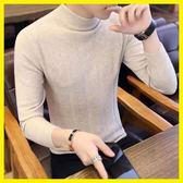 2019秋冬新款男士韓版半高領毛衣潮流保暖線衣男裝修身衣服針織衫