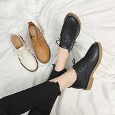 復古皮鞋英倫風女鞋復古小皮鞋女2021春秋季新款平底百搭韓版學生日系單鞋 JUST M