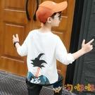 男童長袖T恤秋裝童裝兒童打底衫寬松潮童上衣棉T【淘嘟嘟】