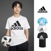 【GT】Adidas 黑白藍 短袖T恤 純棉 運動 休閒 訓練 上衣 短T 愛迪達 基本款 經典款 易烊千璽 Logo