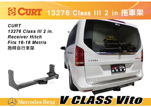 ||MyRack|| CURT BENZ V CLASS Vito 專用拖車架 托車管 13276 Class III