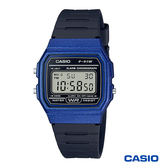 CASIO 藍色方形輕便電子錶 F-91WM-2A 學生錶 當兵軍用錶 工作錶 公司貨保固1年   高雄名人鐘錶