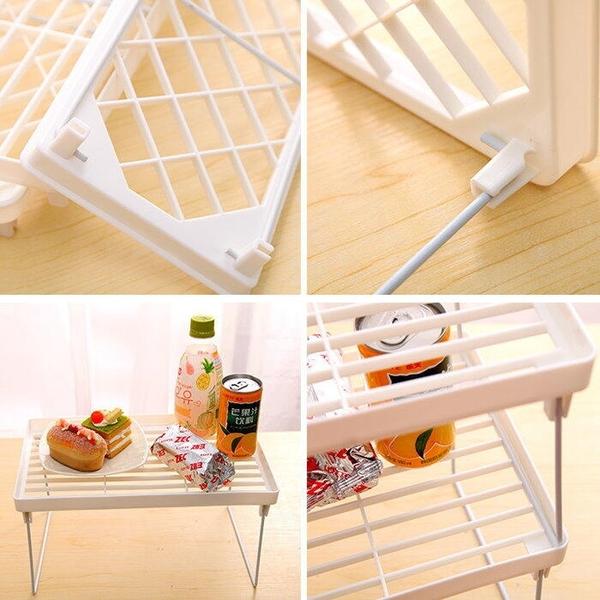 【DR465】可摺疊多功能流理台置物架-小 浴室收納架 辦公桌整理棚 置物架 折疊 EZGO商城