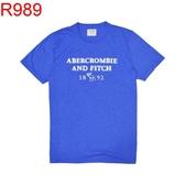 A&F AF Abercrombie & Fitch A & F 男 當季最新現貨 T-Shirt AF R989