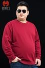 春秋加肥加大碼衛衣男胖子寬鬆圓領套頭衫青...