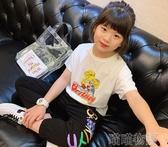 女童短袖T恤-女童卡通短袖T2020春夏裝新款中大童寶寶休閒chic內搭棉T恤打底衫 喵喵物語