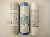 淨園9 吋淨水器前三道替換濾心5M PP UDF C A CTO 除泥沙雜質、除氯脫臭、抑止細菌滋長