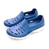 LIKA夢 LOTTO 晴雨穿搭戶外休閒運動涼鞋 ROSSA系列 藍 6836 男