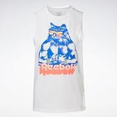 Reebok Gritty Kitty 女裝 背心 訓練 健身 貓咪 純棉 白【運動世界】GH6870