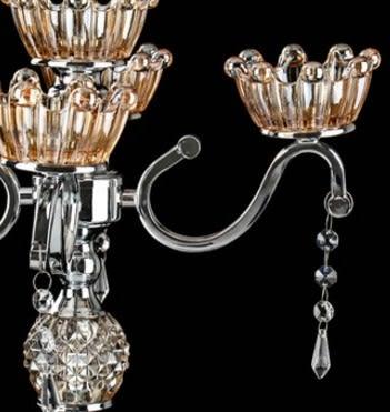 協貿國際五頭水晶玻璃燭台蠟燭台1入