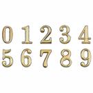 沙蒙DIY 圓弧燙金數字貼牌8cm 0~9 金字貼牌/黏牌/標示牌