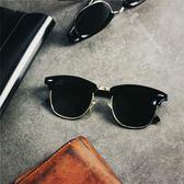 潮人歐美半框偏光太陽鏡男士近視墨鏡女駕駛鏡開車彩色太陽眼鏡潮(限時八八折)