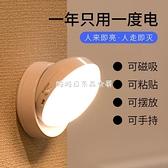 快速出貨led充電人體感應燈家用節能小夜燈臥室聲光控不插電樓道燈衛