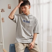 【免運】唐獅新品夏季新款短袖衛衣男半袖五分袖連帽T恤寬鬆學生薄款潮牌