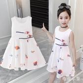 女童連身裙2020新款夏季洋氣時尚5小女孩白色洋裝8歲雪紡兒童公主裙子 LR23887『毛菇小象』