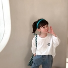 兒童竹節棉上衣 兒童舒適T恤春款新款正韓男女童寶寶竹節棉圓領寬鬆休閒上衣-Ballet朵朵