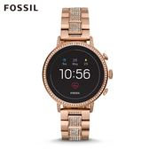 FOSSIL Q VENTURE HR 奢華玫瑰金不鏽鋼觸控式螢幕智慧手錶 女