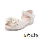 【樂樂童鞋】甜美蝴蝶結涼鞋 S969 -...