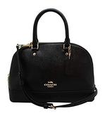 美國 COACH 專櫃最新流行款 黑色 (小號)貝殼包金色馬車 時尚高貴經典款 限量價$4300現貨