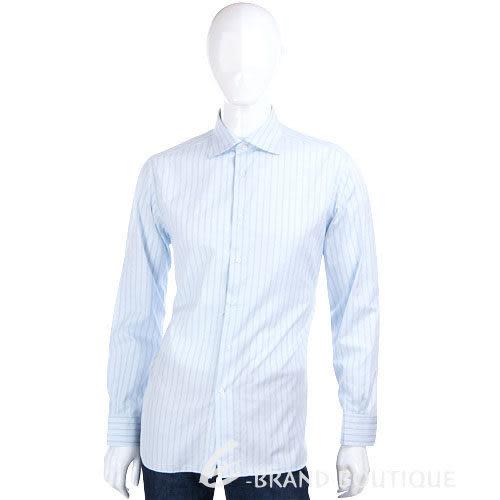 Ermenegildo Zegna 條紋長袖襯衫(水藍色) 1230532-23