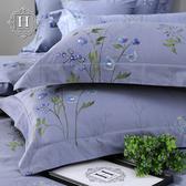 【HOYACASA】芙蘭妮雙人四件式300織長纖細棉被套床包組